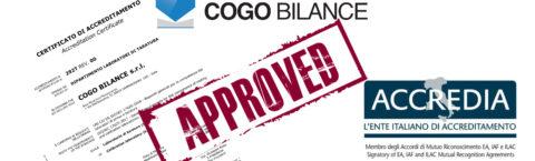 Cogo Bilance ISO 17025 accreditation.
